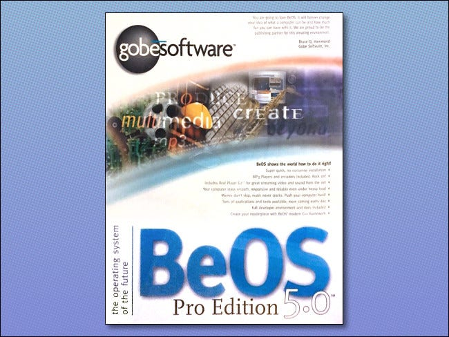 The BeOS 5.0 Pro Edition box.