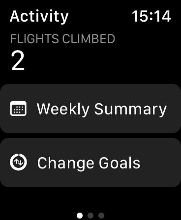 Change Goals on Apple Watch