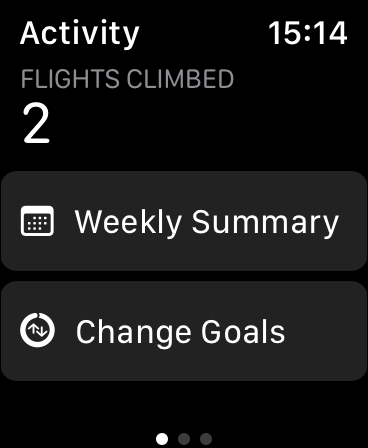 Change Goals on Apple Watch