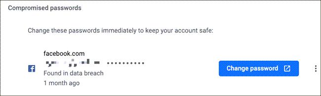 chrome reset password