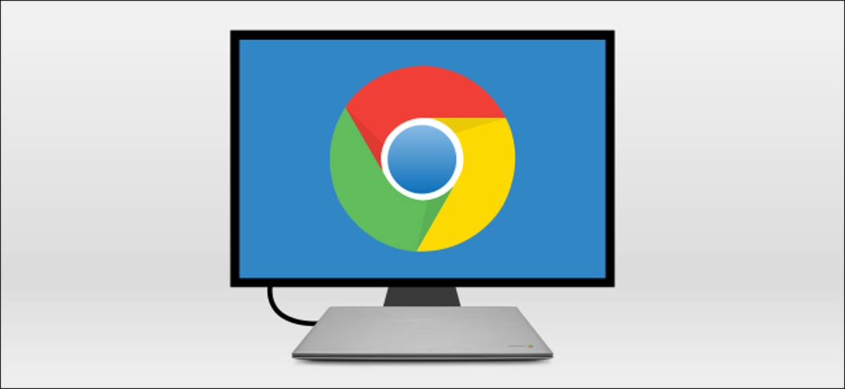 chromebook connected to monitor