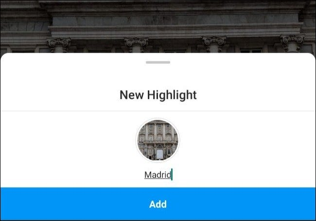 """A """"New Highlight"""" being added for Madrid."""