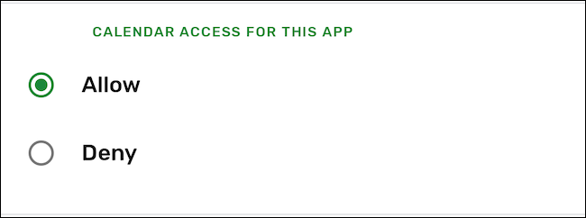 Deny an app permission on Android