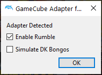 Dolphin's Adapter Detected window