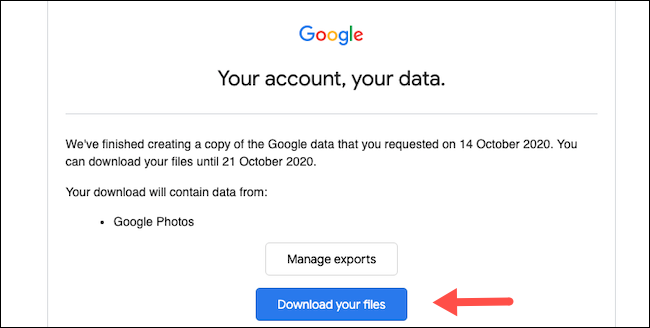 Download a copy of Google Photos library