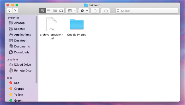 Download Google Photos library backup