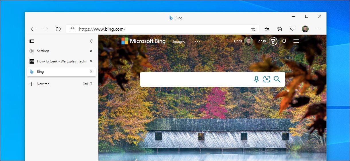 The vertical tab sidebar in Microsoft Edge