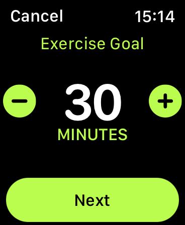 Apple Watch Change Activity Goal