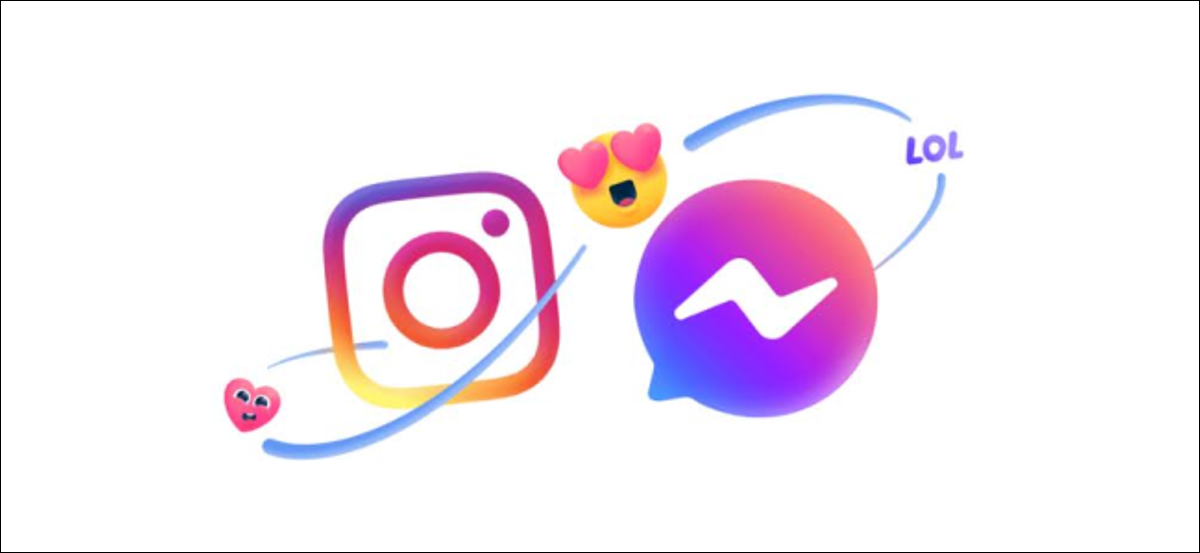 The Facebook Messenger and Instagram logos.