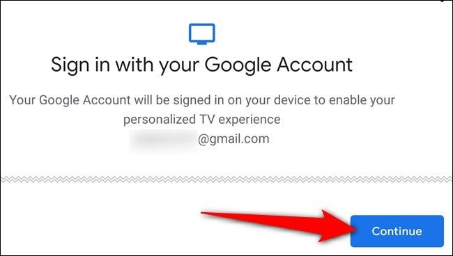 Follow the onscreen prompts to sign in to your Google account