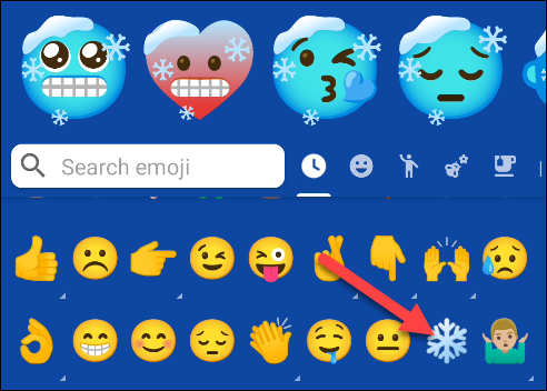 Select the first emoji you want for your mash-up.