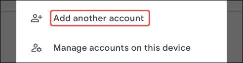 select add another account
