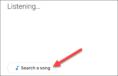 tap the search a song button