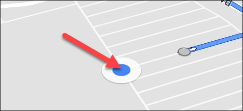 tap the blue dot