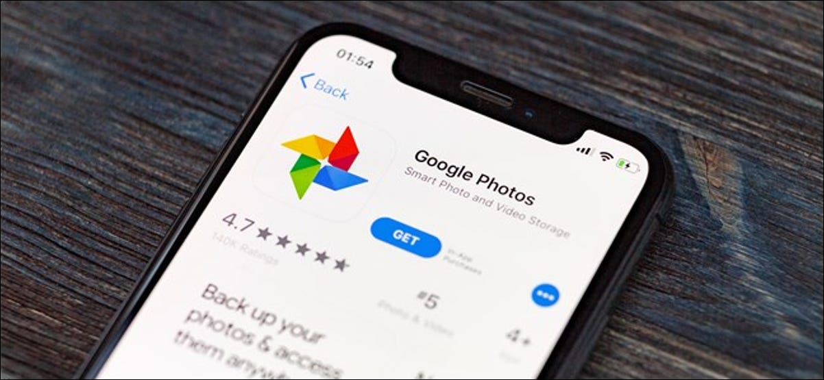 Google Photos App Store listing on Apple iPhone