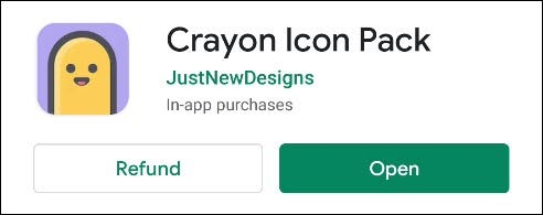 play store listing page