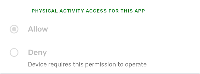 Google Play Services Physical Activity permission