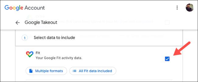 Hacer una copia de seguridad de los datos de Google Fit con Takeout