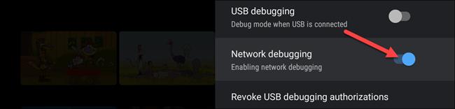 toggle network debugging