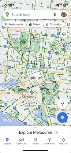 Google Maps Cycling Map