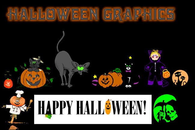 A Halloween Graphics website on GeoCities.