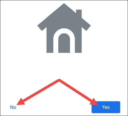 "Tap ""Yes"" or ""No"" to proceed."