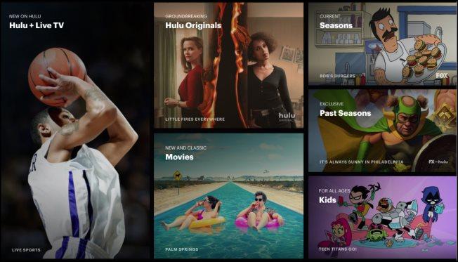 Hulu + Live TV's website