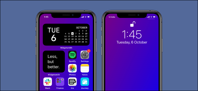 Usuario de iPhone que crea un fondo de pantalla basado en degradado mediante accesos directos
