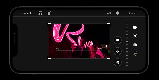 iPhone 12 Video Editor