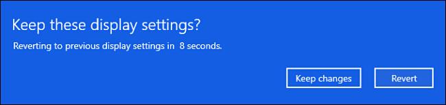 """Durante o período de teste de 15 segundos, clique em """"manter"""" ou """"reverter"""""""
