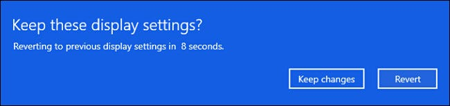 """During the 15 second test period, click """"keep"""" or """"revert"""""""