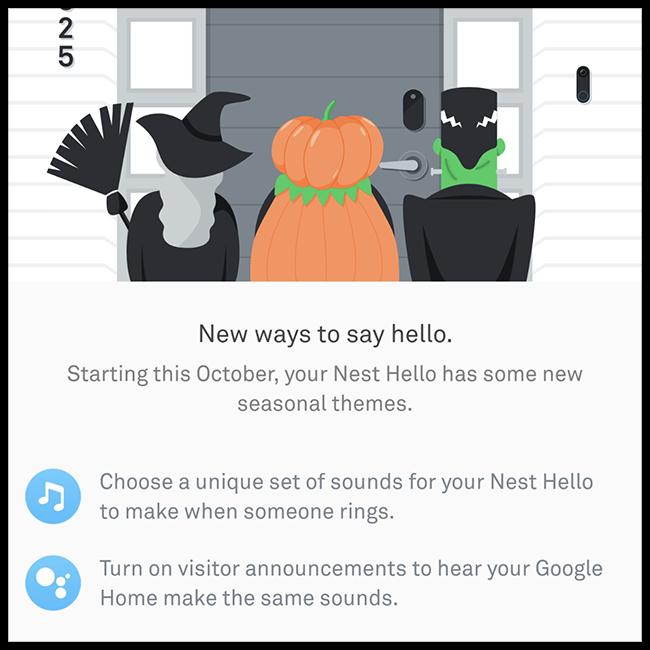 Nest Home Screen Seasonal Theme