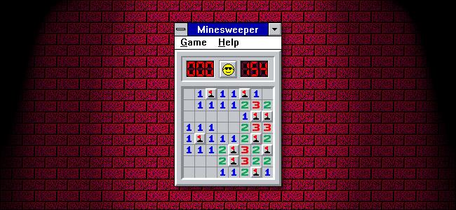 """""""Minesweeper"""" in Windows 3.11."""