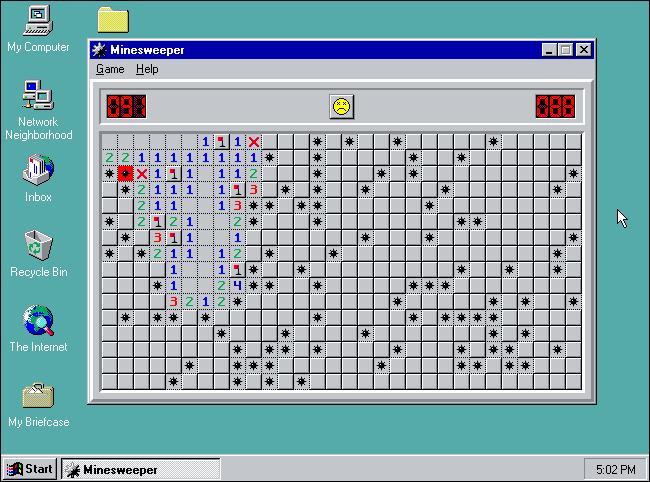 Minesweeper بازی مایکروسافت ویندوز بازی Minesweeper