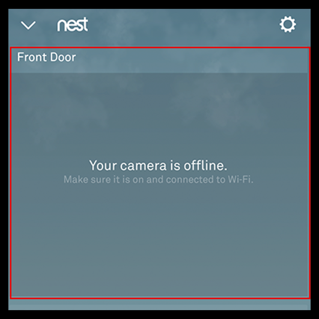 Select your Nest Hello doorbell from the Nest App home screen