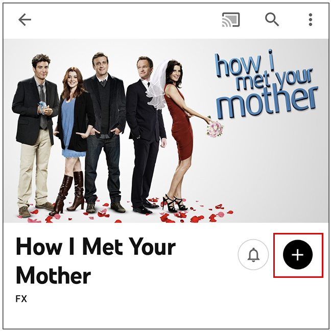 tap the plus icon to add the show to your library!