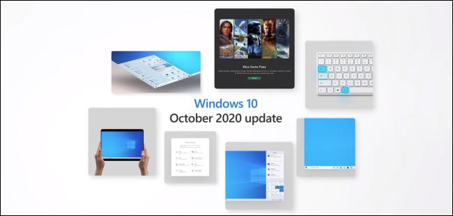 A Windows 10 October Update marketing graphic