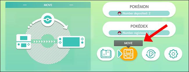 pokemon home 3ds move