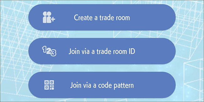 Le opzioni di scambio in camera in Pokémon Home.