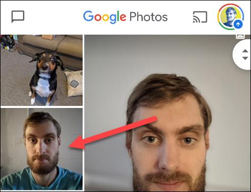 "Select an image in ""Google Photos."""