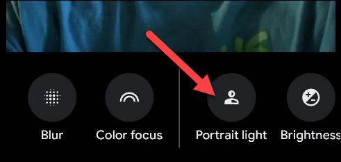 """Tap """"Portrait Light."""""""
