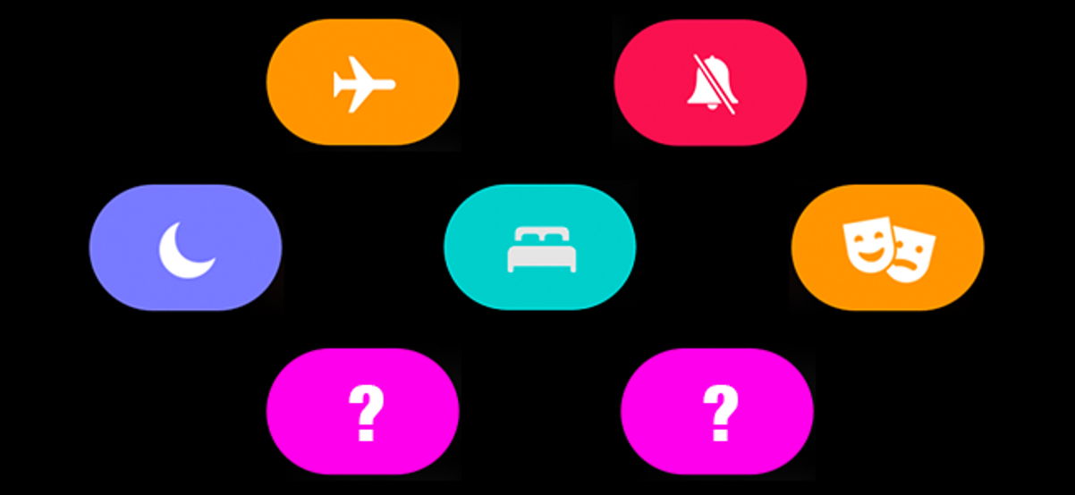 preview image showing different apple watch mode icons