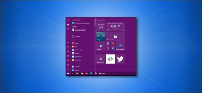 Custom Windows Start Menu Color