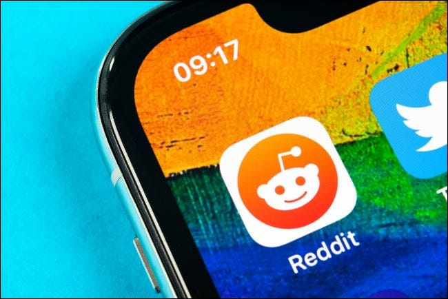 The Reddit app logo on an iPhone Home screen.