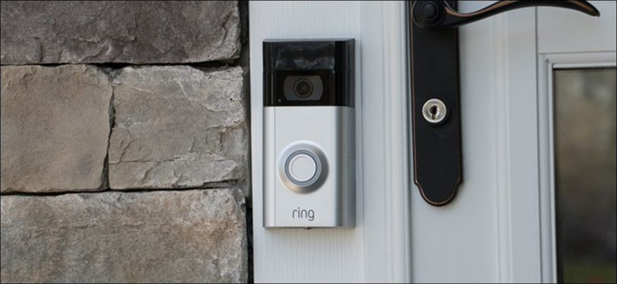 Ring Video Doorbell installed on a house