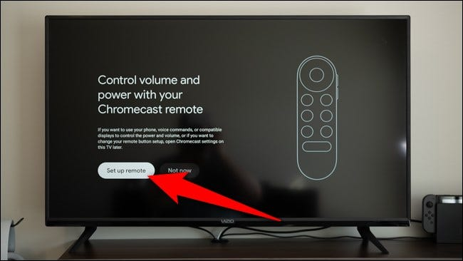 "Select the ""Set Up Remote"" button"