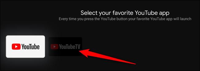 Seleccione la aplicación de YouTube a la que le gustaría asignar el botón