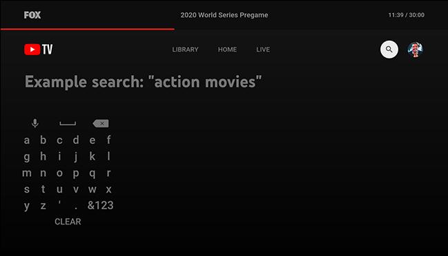 digite o programa ou filme que está procurando