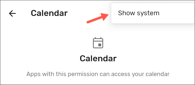 Show system apps in permission manager