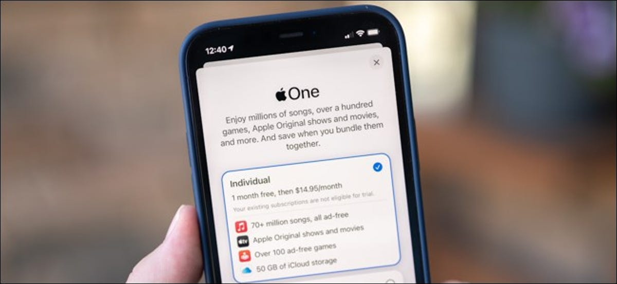 Signing up for an Apple One subscription on iPhone